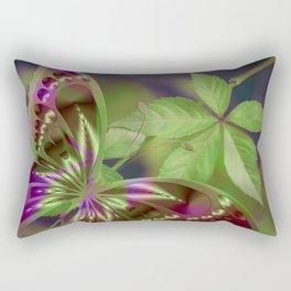 Abstract Purple Green Butterfly Rectangular Pillow