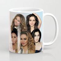 fifth harmony Mugs featuring Fifth Harmony by Aaron Jason