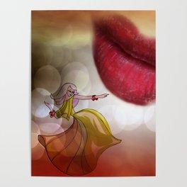 the kiss -3- portrait format Poster