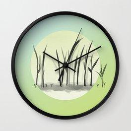 Last Frost, Rice Seedlings Grow Wall Clock