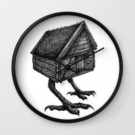 Baba Yaga's Hut Wall Clock