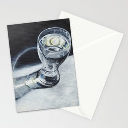 Glass of the water in the light Stationery Cards