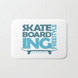 Skateboarding Freestyle San Diego Bath Mat