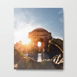 Sunset at The Palace of Fine Arts Metal Print