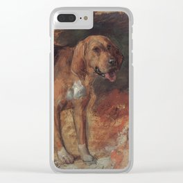 Study of a Bloodhound Clear iPhone Case