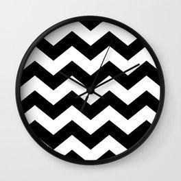 Striped Lodge Wall Clock