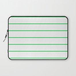 SKINNY STRIPE ((true green)) Laptop Sleeve