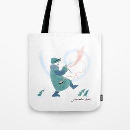 Winter Knitter Tote Bag