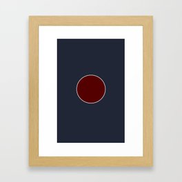 It's not a circle only. Feel it. Framed Art Print