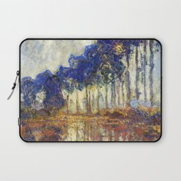 Poplars on the Bank of the Epte River by Claude Monet Laptop Sleeve