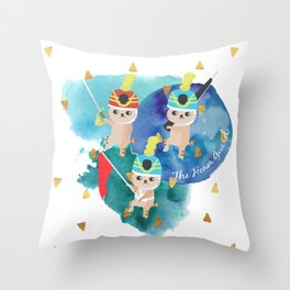 The Honor Guard watercolor Throw Pillow