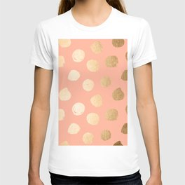 Sweet Life Polka Dots Peach Coral + Orange Sherbet Shimmer T-shirt