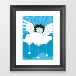 huh? what?! can't hear you ... too windy up here! Framed Art Print