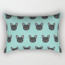 French Bulldog black coat frenchie must have gifts for dog person dog lover bulldog owner cute doge Rectangular Pillow