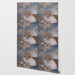 Dramatic Cat Face Wallpaper