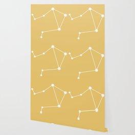 Libra Zodiac Constellation - Golden Yellow Wallpaper