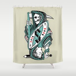 Death card Shower Curtain