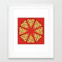 pizza Framed Art Prints featuring pizza by ValoValo