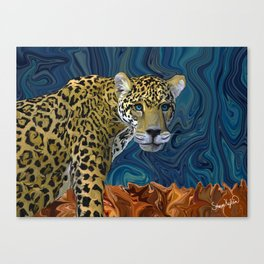 Leopard with the Sky in His Eyes Canvas Print