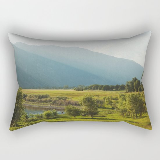 Wading Deer Rectangular Pillow