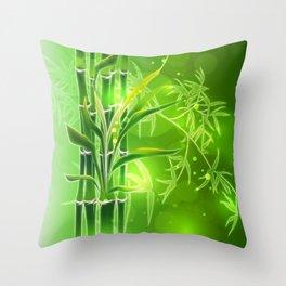 Bambus im Morgenlicht Throw Pillow