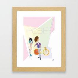 Poser - Fix Framed Art Print