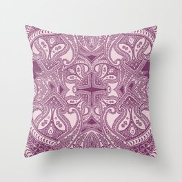 paisley dagger in bordeaux Throw Pillow