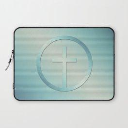 Retro Cross Emblem Graphic Laptop Sleeve