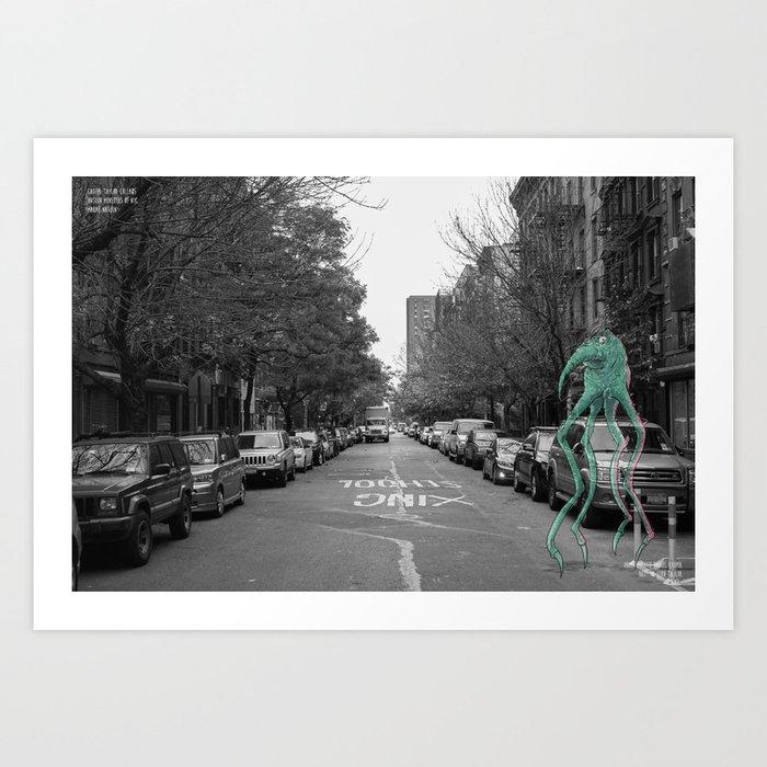 Unseen Monsters of New York - Makah  Art Print