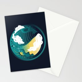 Small Green Planet Stationery Cards