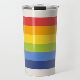 Retro Rainbow Stripe Travel Mug
