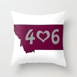 406 : Missoula, Montana Throw Pillow