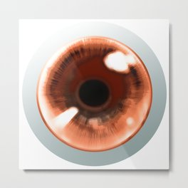 Red Eye - Graphic Design Metal Print