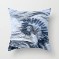 tie dye Throw Pillows featuring TIE DYE by DAY OLD BLUES