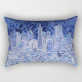 san francisco city skyline Rectangular Pillow