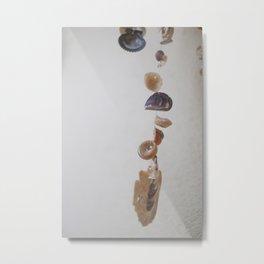 Hanging Sea Shells Metal Print