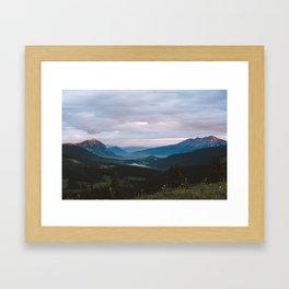 Sunset over Crested Butte Framed Art Print