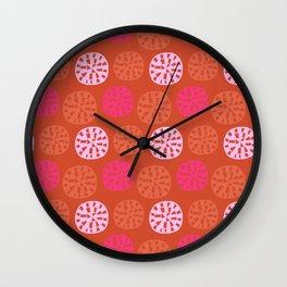 ensenada, mid-century inspired pattern Wall Clock