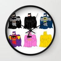bats Wall Clocks featuring Bats! by Giovanni Costa