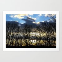 rileigh smirl Art Prints featuring Sunset by Rileigh Smirl
