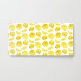Fresh Lemon Fruit Slices Metal Print