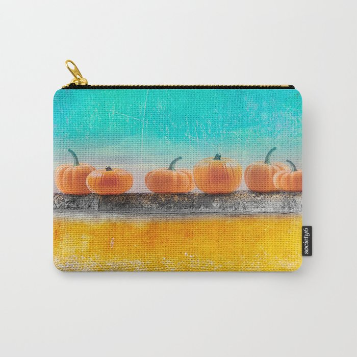 Pumpkins on a Wall Carry-All Pouch