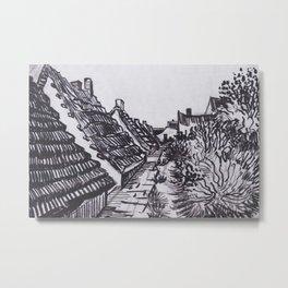 Street in Saintes-Maries by Vincent van Gogh Metal Print