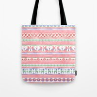 mexican Tote Bags featuring Mexican Blanket by Sian Keegan