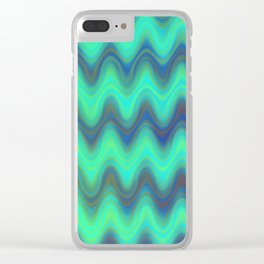 Agate Wave Blue - Mineral Series 001 Clear iPhone Case