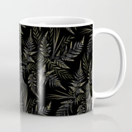 Fern leaves - Black Coffee Mug