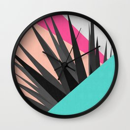 Tropical and geometric composition II Wall Clock