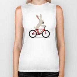 Bunny riding bike Biker Tank