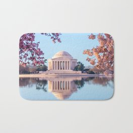 Cherry Blossoms at Jefferson Memorial in Washington DC Bath Mat