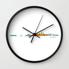 Istanbul City Skyline Hq v1 Wall Clock